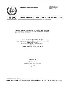 international nuclear data committee iaea nuclear data section ...