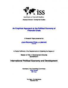 International Political Economy and Development