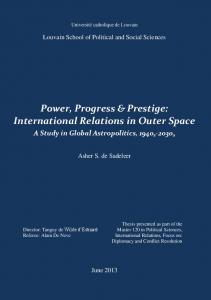 International Relations in Outer Space - A Study in ...