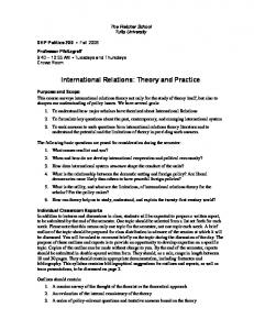 International Relations: Theory and Practice