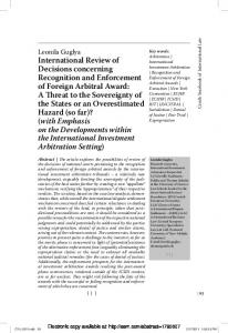 International Review of Decisions concerning ... - SSRN papers