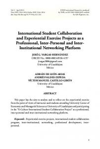 International Student Collaboration and Experiential