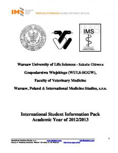 International Student Information Pack Academic Year of 2012/2013