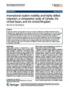 International student mobility and highly skilled migration - SpringerPlus