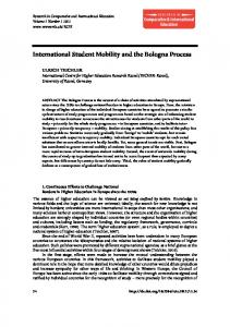 International Student Mobility and the Bologna Process - Uni Kassel