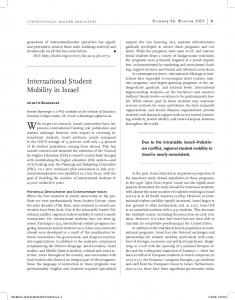 International Student Mobility in Israel - Open Access Journals at BC