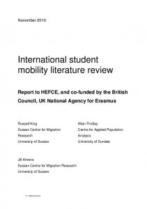 international student mobility literature review - UCL