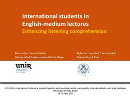 International students in English-medium lectures ...
