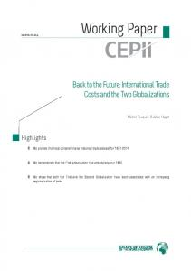 International Trade Costs and the Two Globalizations - Cepii