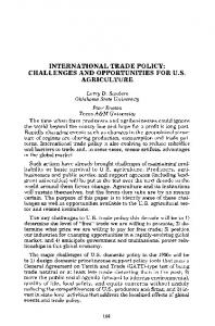 international trade policy: challenges and ... - AgEcon Search