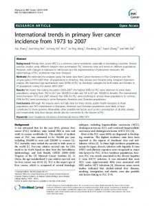 International trends in primary liver cancer incidence from 1973 ... - Core