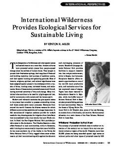 International Wilderness Provides Ecological Services for Sustainable ...