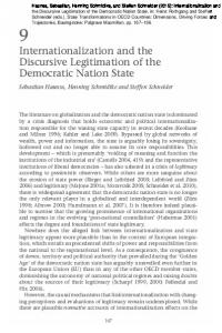 Internationalization and the Discursive Legitimation ...