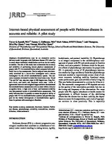 Internet-based physical assessment of people with Parkinson disease ...