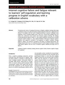 Internet cognitive failure and fatigue relevant to ... - Wiley Online Library
