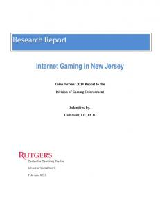 Internet Gaming in New Jersey - State of New Jersey