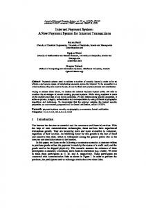 Internet Payment System: A New Payment System ... - Semantic Scholar