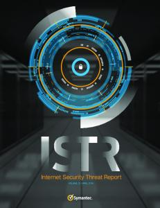 Internet Security Threat Report - Symantec