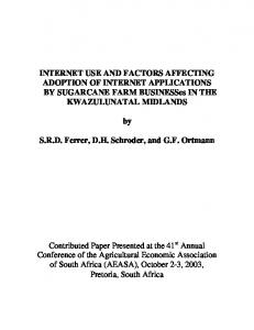 internet use and factors affecting adoption of internet - AgEcon Search