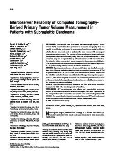 Interobserver Reliability of Computed Tomography ... - Semantic Scholar