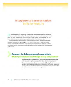 Interpersonal Communication: Skills for Real Life - McGraw-Hill ...