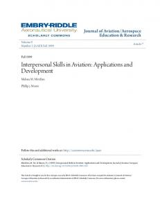 Interpersonal Skills in Aviation: Applications and ... - CiteSeerX