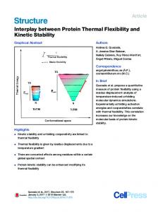 Interplay between Protein Thermal Flexibility and Kinetic Stability