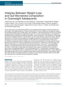 Interplay Between Weight Loss and Gut ... - Wiley Online Library