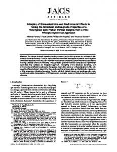 Interplay of Stereoelectronic and Enviromental Effects in Tuning the ...