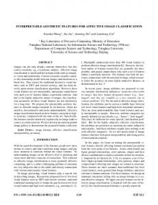 interpretable aesthetic features for affective image classification