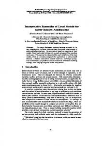 Interpretable Ensembles of Local Models for Safety ... - UCL/ELEN