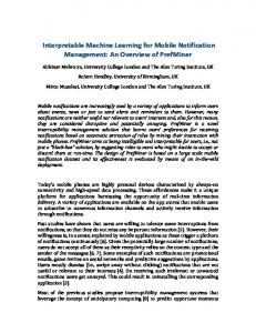 Interpretable Machine Learning for Mobile Notification Management