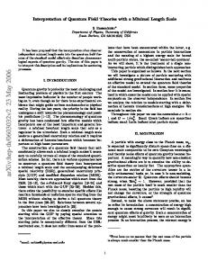 Interpretation of Quantum Field Theories with a Minimal Length Scale