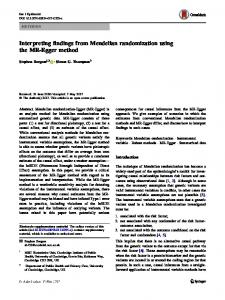 Interpreting findings from Mendelian randomization ... - CyberLeninka