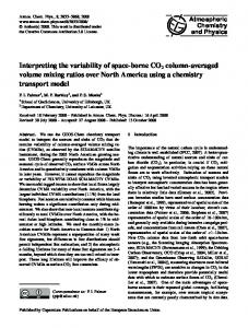 Interpreting the variability of space-borne CO2 ... - Atmos. Chem. Phys