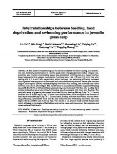 Interrelationships between feeding, food deprivation ... - Inter Research