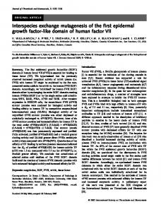 Interspecies exchange mutagenesis of the first ... - Wiley Online Library