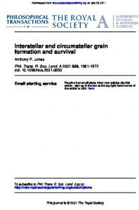 Interstellar and circumstellar grain formation and