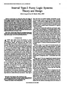 Interval type-2 fuzzy logic systems: theory and ... - Semantic Scholar