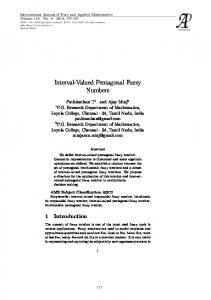 Interval-Valued Pentagonal Fuzzy Numbers