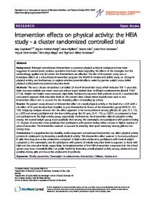 Intervention effects on physical activity: the HEIA