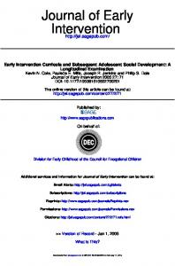 Intervention Journal of Early