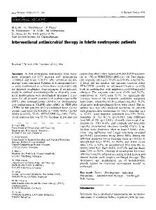 Interventional antimicrobial therapy in febrile ... - Springer Link