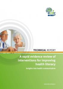 Interventions for improving health literacy - European Centre for ...