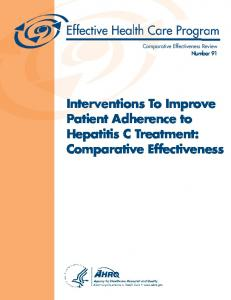 Interventions To Improve Patient Adherence to ...