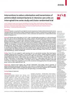 Interventions to reduce colonisation and transmission of antimicrobial ...