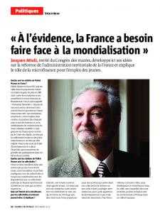 INTERVIEW. Jacques Attali - Maire-Info