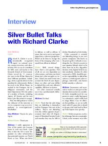 Interview Silver Bullet Talks with Richard Clarke