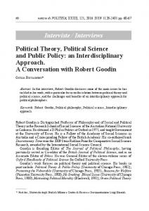 Interviste / Interviews Political Theory, Political Science and ... - Politeia