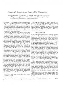 Intestinal Apoproteins during Fat Absorption - Europe PMC